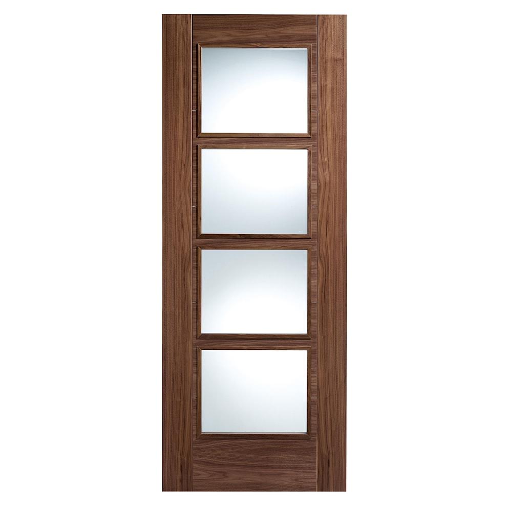 Engineered Oak Flooring Magnet: Walnut Vancouver Glazed Internal Door 2040x826mm