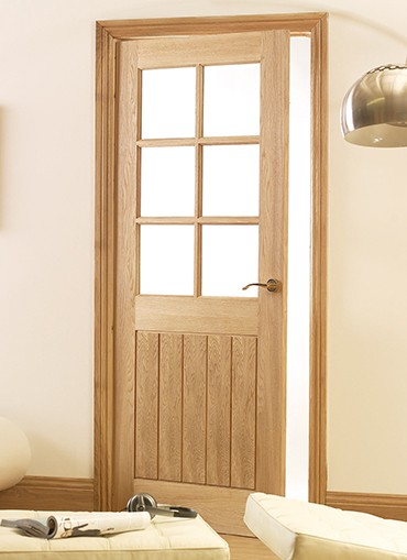 Mexicana Oak 6 Light Glazed Internal Door 2040x826mm